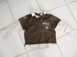 Tee shirt chemise intégrée 5ans
