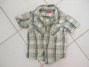 chemise manches courtes à carreaux garçon 5 ans