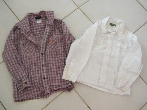 Chemise à manches longues garçon 5 ans